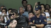 Liam Gallagher ultrà durante Real Madrid Manchester City 3 2