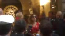 Lady Gaga incontra Donatella Versace a Milano