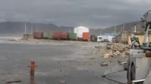 L'uragano Sandy si abbatte sulla costa haitiana