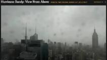 L'uragano Sandy in stop motion