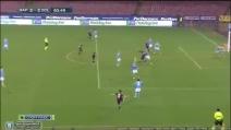 Gran gol di Kone in Napoli-Bologna 2-3