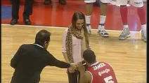 La proposta di matrimonio di Dominic James durante il BEKO All Star Game