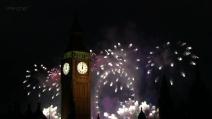 I fuochi d'artificio del capodanno londinese