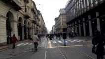 Il manifestante No Tav atterrato dalla polizia a Torino