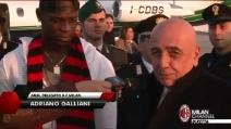 """Balotelli atterra a Malpensa: """"Volevo giocare da tempo al Milan"""""""