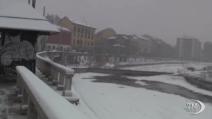 Milano: la neve non blocca la metropoli