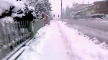 Quanta neve nell'Emilia!