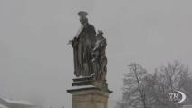 La magia delle neve sul centro storico di Padova