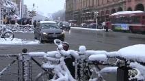 Emilia-Romagna imbiancata: neve anche nel centro di Bologna