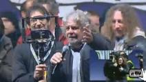 """Grillo: """"800mila in piazza e 150mila in streaming. Le tv sono tutte sotto shock"""""""