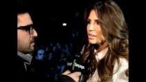 Intervista a Claudia Galanti alla sfilata di Roberto Cavalli   Milan Fashion Week