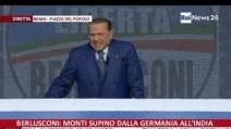 Berlusconi alla piazza PdL: Pronti a tornare alle urne?