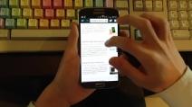 Samsung Galaxy S4 Esperienza d'uso su browser