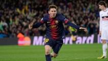 Il Barcellona vola in Champions nel segno di Messi