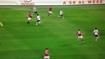 Fantastico colpo di tacco di Francesco Totti in Roma-Parma