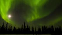 Canada, meravigliosa Aurora Boreale a Manitoba