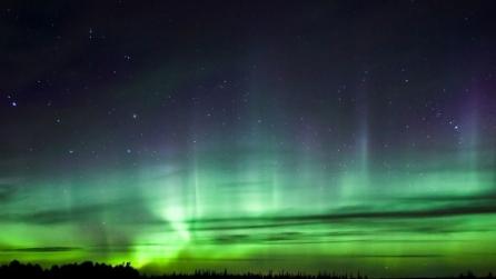 Un'aurora boreale mozzafiato in Finlandia il 17 marzo 2013