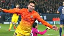 L'azione del gol di Messi in Psg-Barcellona 2-2 (03.04.2013)