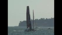 America's Cup - Allenamento catamarani