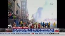 Una tremenda esplosione durante la maratona di Boston