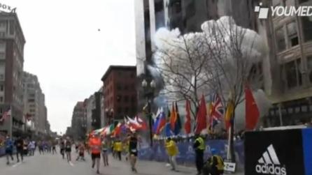 Le esplosioni alla maratona di Boston viste da vicino