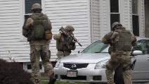 La sparatoria che ha coinvolto il secondo sospettato nell'attentato di Boston