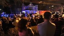 C'è anche un tifoso del Napoli tra chi festeggia per la cattura di uno dei possibili attentatori di Boston