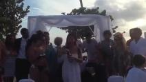 Guendalina Tavassi sposa Umberto D'Aponte a Santo Domingo