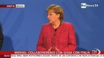 """Merkel a Letta: """"Italia ha già fatto grandi passi avanti"""""""