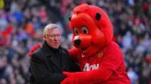 Premier League 2013: il Manchester United di Sir Alex Ferguson festeggia la vittoria del campionato