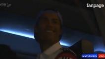 Il bacio di Cristiano Ronaldo ai tifosi dell'Atletico Madrid
