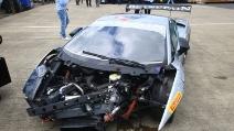Il campione della Formula 1 che sfascia una Lamborghini