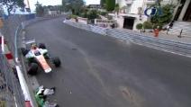 Incidente di Sutil nelle FP3 di Montecarlo 2013