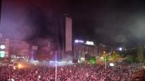 Ankara, blindato della polizia investe un manifestante