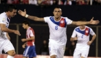 Gol a volo di Arturo Vidal in Paraguay-Cile 1-2