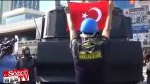 Istanbul, lo scudo umano dei manifestanti contro lo sgombero forzato della polizia