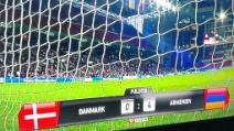 Il bel gol di Henrikh Mkhitaryan in Danimarca-Armenia 0-4