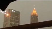 Fulmine colpisce un edificio ad Atlanta