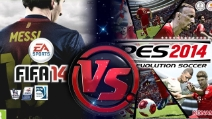 PES 2014 vs FIFA 14