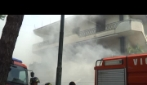 supermarket in fiamme