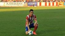 David Villa acclamato da 25mila tifosi dell'Atletico Madrid