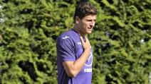 Primo gol di Mario Gomez con la Fiorentina nel ritiro di Moena