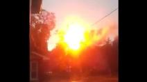 Boston, esplode palo della luce