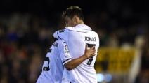 Valencia-Inter 2-0, il gol di Jonathan Veira
