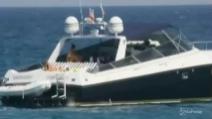 Flavio Briatore ed Elisabetta Gregoraci nelle acque della Sardegna