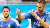 Il gol di Karim Benzema in PSG-Real Madrid