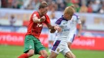 Cska Mosca-Lokomotiv 2-1: Keisuke Honda segna uno spettacolare gol su punizione