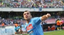 Il gol del vantaggio di Pandev in Napoli-Galatasaray 29.07.2013
