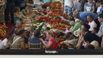 Dolore e commozione ai funerali delle vittime dell'incidente in Irpinia