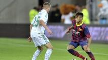 Il debutto di Neymar con la maglia del Barça